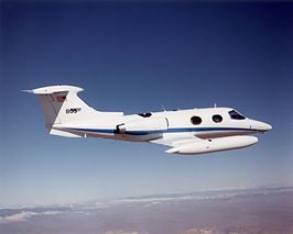 NASA DFRC Lear 24 in flight.jpg
