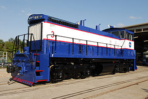 NASA Railroad - Image: NASA Railroad locomotive 3