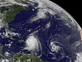 NASA Satellite Captures Hurricane Danielle, Hurricane Earl and Developing Tropical Depression 8 (4945288550).jpg