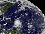 NASA Satellite Captures Hurricane Danielle, Hurricane Earl and Developing Tropical Depression 8 (4945288550).jpg