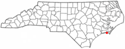 Location of Atlantic Beach, North Carolina
