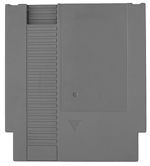 "Nintendo Entertainment System - North American and PAL NES cartridges (or ""Game Paks"") are significantly larger than Japanese Famicom cartridges."