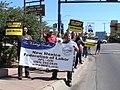 NM Unions Protest John McCain at Hotel Albuquerque (2672897697).jpg