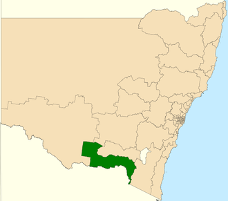 Electoral district of Albury - Location in New South Wales
