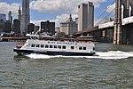 NY Waterway Tourboat George Washington, Manhattan Municipal Building, & Brooklyn Bridge (9427260150).jpg