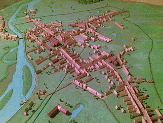 Næstved - Diorama inside the Næstved Museum showing Næstved as it appeared circa 1600.