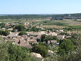 Le village de Nages-et-Solorgues.