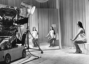 Flower Drum Song (film) - Nancy Kwan on set.