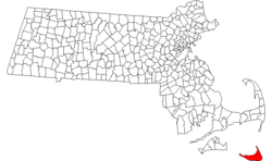 Location in Nantucket County in Massachusetts