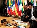 Naoto Kan cropped 1 Angela Merkel David Cameron Barack Obama and Naoto Kan 20100625.jpg