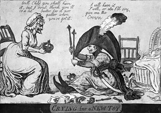 Isaac Cruikshank - Image: Napoleon nappy crying for a new toy 1803 caricature