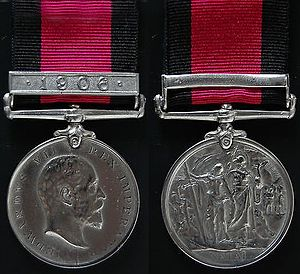 Natal Native Rebellion Medal - Image: Natal Native Rebellion Medal 1906