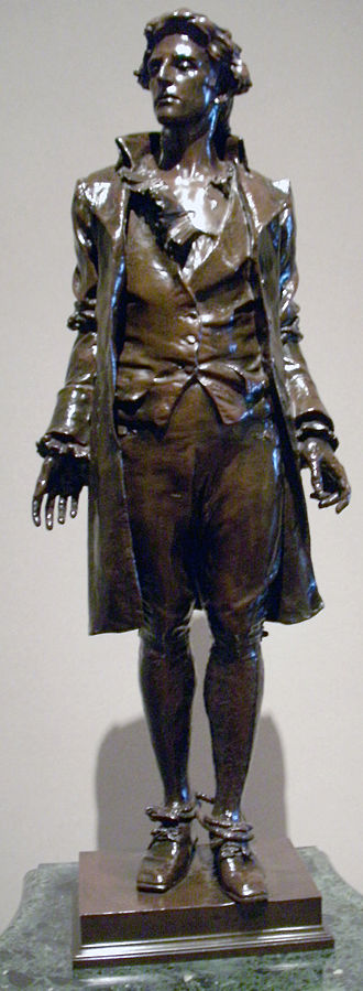 Frederick William MacMonnies - Tabletop-sized copy of Nathan Hale, in the National Gallery of Art
