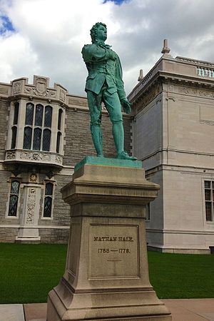 Wadsworth Atheneum - Nathan Hale, statue by Enoch Smith Woods