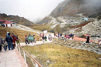Nathu La - Stairs leading to the border on the Indian side