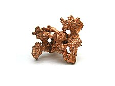 Native copper specimen (~ 4 cm in size)