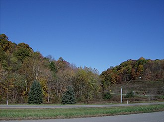 Harrison Township, Allegheny County, Pennsylvania - Hilly woodlands in northwest Harrison Township along Pennsylvania Route 28