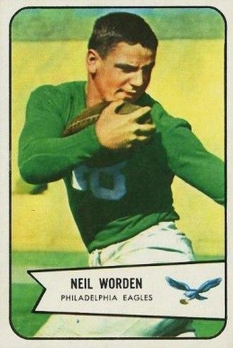 Neil Worden - Worden on a 1954 Bowman football card