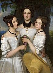 Portrait of three girls.