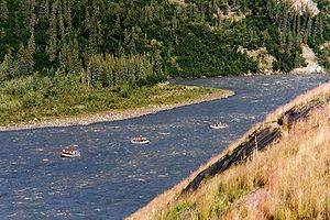 Nenana River - Rafters on the Nenana River, near Denali National Park and Preserve