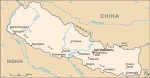 Nepal map (de)