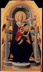 Virgin and Child Enthroned with Four Angels