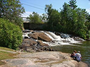 Sioux Narrows-Nestor Falls - Image: Nestor Falls ON