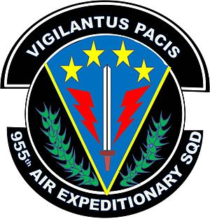 966th Air Expeditionary Squadron - Image: New 955 Air Expeditionary Squadron Patch