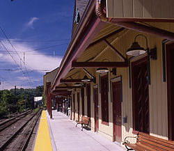 New Canaan train station