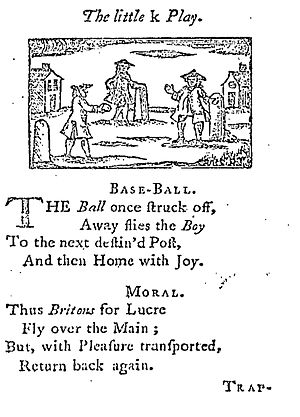 Miscellany - Some miscellanies were even aimed at children, as A Little Pretty Pocket-Book (1744) demonstrates. It consists of rhymes and morals for each letter of the alphabet.