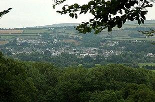 View across the Teifi valley towards Newcastle Emlyn