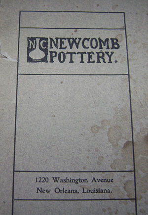 Newcomb Pottery - Brochure advertising Newcomb College Pottery, early 1900s
