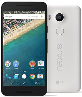 Nexus 5X Android smartphone manufactured by LG Electronics