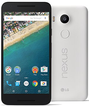 Comparison of Google Pixel smartphones - Image: Nexus 5X (White)