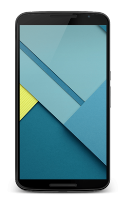 Android Lollipop Nexus 6:lla.