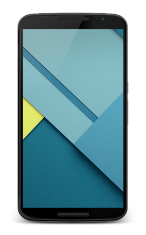 Nexus 6 - Front view of the Nexus 6