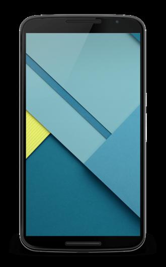 Nexus 6 - Front view of the Nexus 6