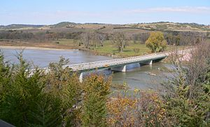 Niobrara River - Niobrara River at the Nebraska Highway 7 crossing