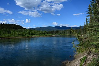 The Nisutlin River near Quiet Lake