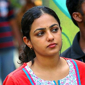 Nithya Menen during the shoot of Thalsamayam Oru Penkutty