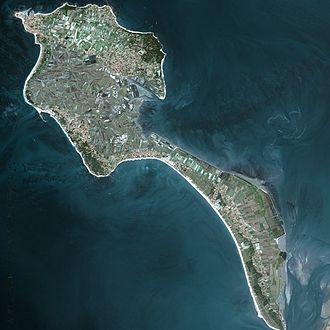 Noirmoutier - Noirmoutier Island image from satellite Spot