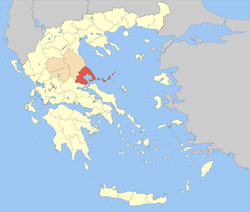 Location of Magnesia Prefecture in Greece