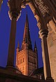 Norwich Cathedral Spire Evening Lights.jpg
