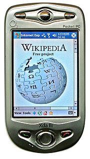 An O2 Pocket PC phone