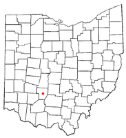 Location of Washington Court House, Ohio