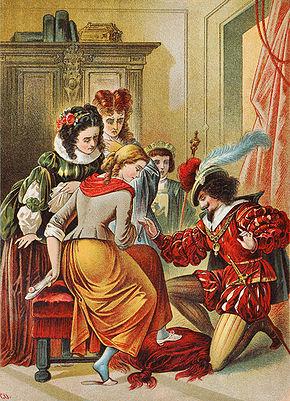 Carl Offterdinger Illustrazione per Cenerentola (fine Ottocento)