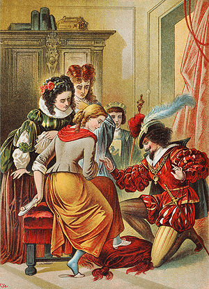 Cinderella, illustration by Carl Offterdinger