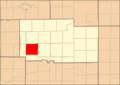Ogle County Illinois Map Highlighting Buffalo Township.png