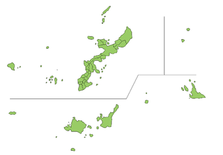Map of Okinawa Prefecture.