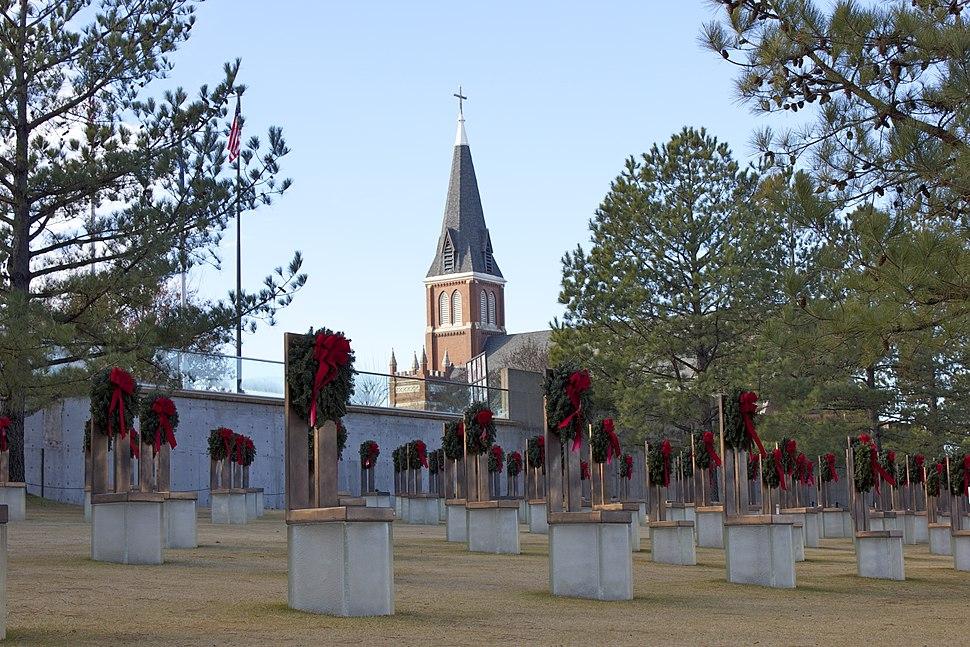 Oklahoma City National Memorial at Christmas